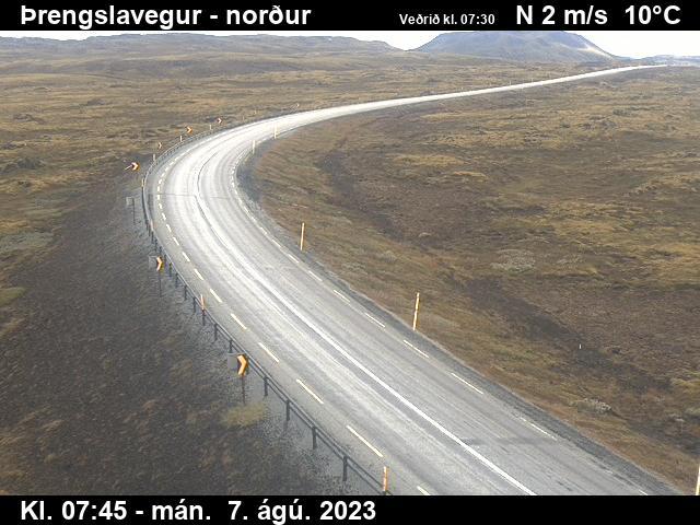 Þrengslavegur séð í norður