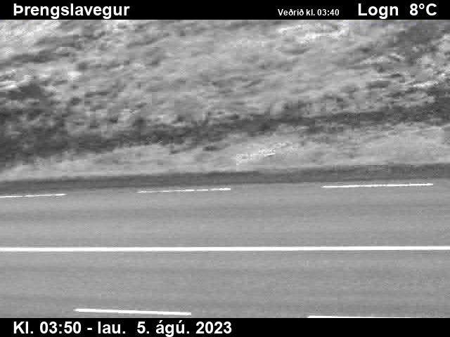 Þrengslavegur séð niður á veg